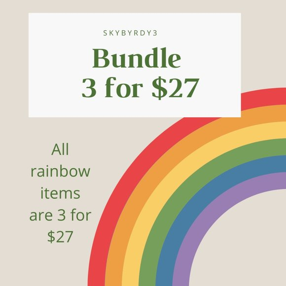🌈 BUNDLE AND SAVE 3 FOR $27